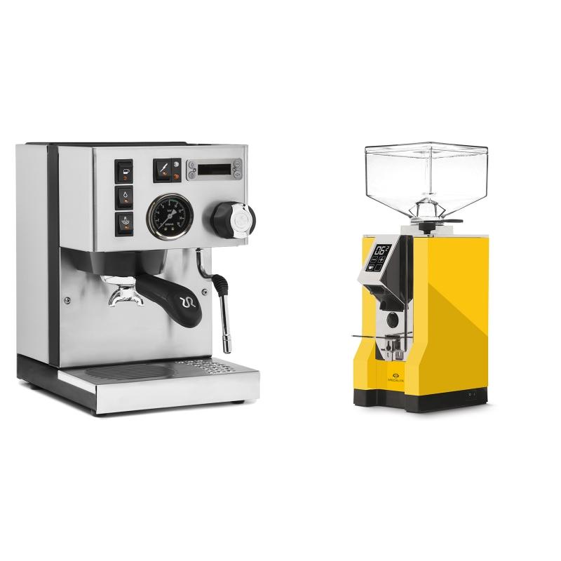 Rancilio Silvia PID Buna café edice + Eureka Mignon Specialita, CR yellow