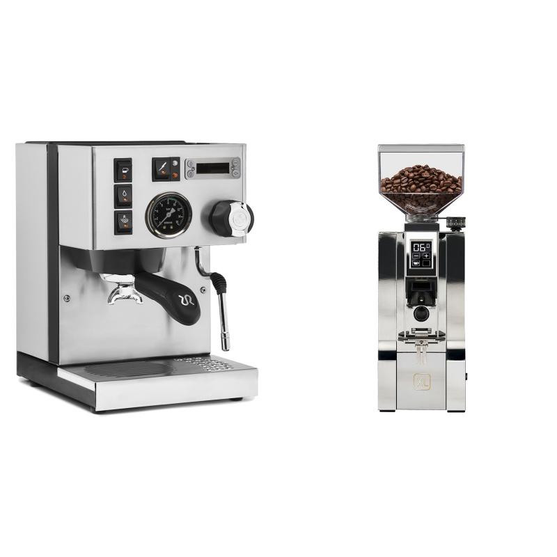 Rancilio Silvia PID Buna café edice + Eureka Mignon XL, CR chrome