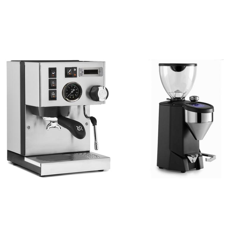 Rancilio Silvia PID Buna café edice + Rocket Espresso FAUSTO 2.1, black