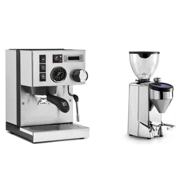 Rancilio Silvia PID Buna café edice + Rocket Espresso FAUSTO 2.1, chrome
