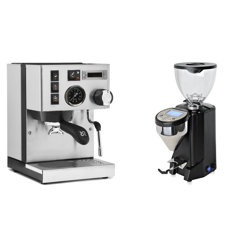 Rancilio Silvia PID Buna café edice + Rocket Espresso FAUSTO, black