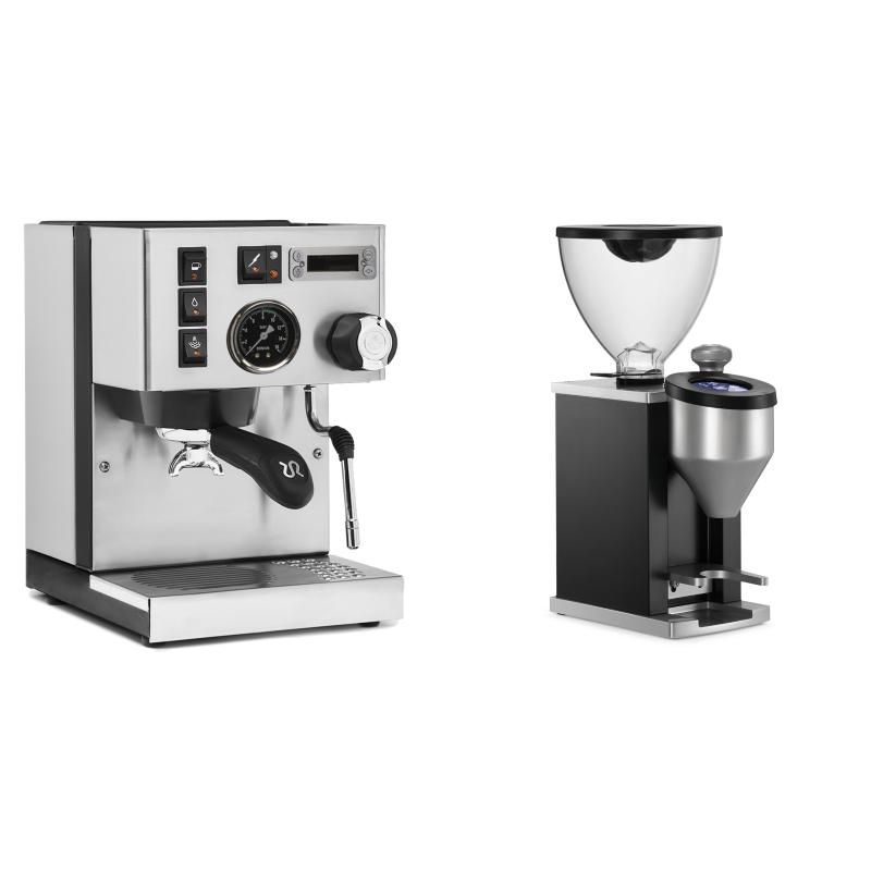 Rancilio Silvia PID Buna café edice + Rocket Espresso FAUSTINO, black