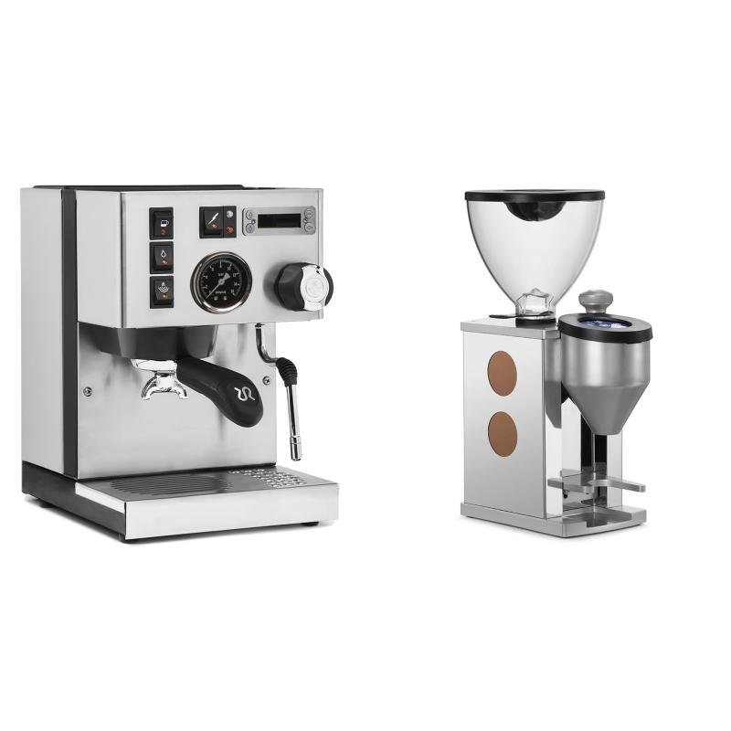 Rancilio Silvia PID Buna café edice + Rocket Espresso FAUSTINO, copper