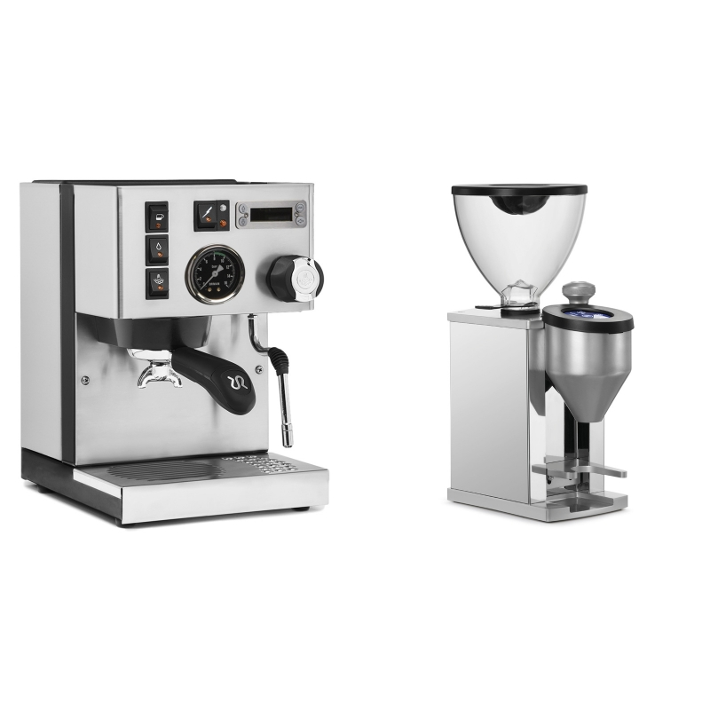 Rancilio Silvia PID Buna café edice + Rocket Espresso FAUSTINO, chrome