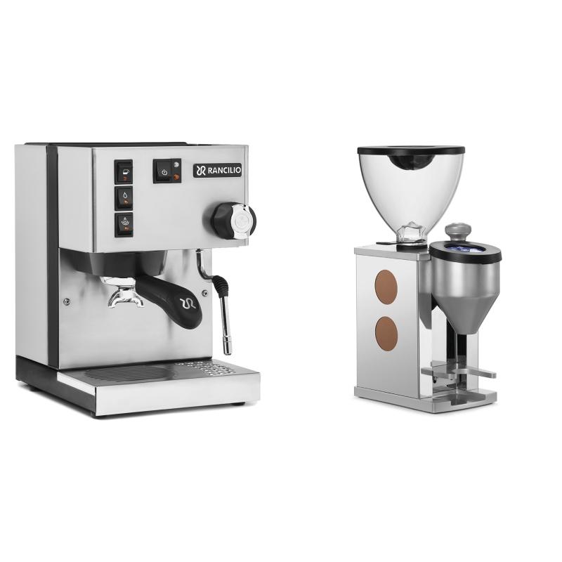 Rancilio Silvia E + Rocket Espresso FAUSTINO, copper