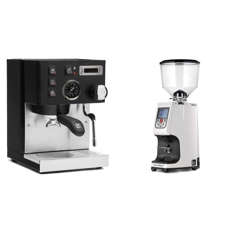 Rancilio Silvia PID Buna café edice, černá + Eureka Atom Specialty 65, white