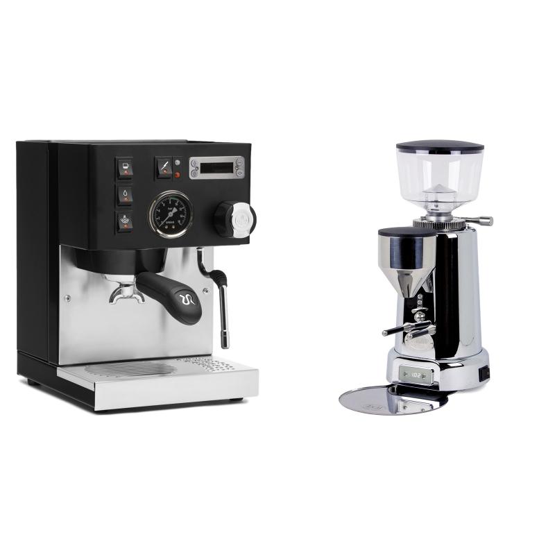 Rancilio Silvia PID Buna café edice, černá + ECM V-Titan 64