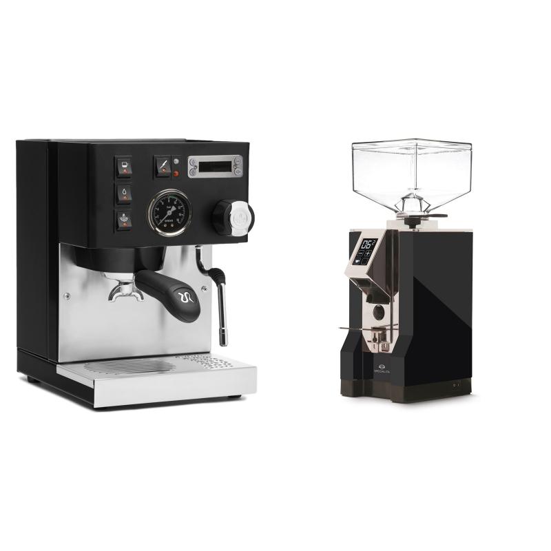 Rancilio Silvia PID Buna café edice, černá + Eureka Mignon Specialita, CR black