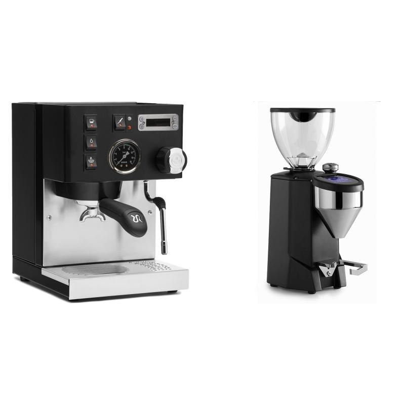 Rancilio Silvia PID Buna café edice, černá + Rocket Espresso FAUSTO 2.1, black