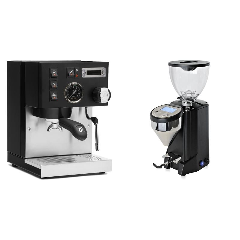Rancilio Silvia PID Buna café edice, černá + Rocket Espresso FAUSTO, black