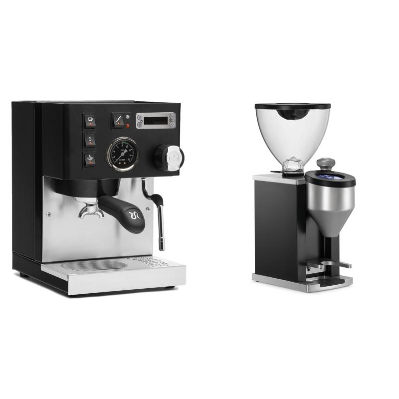 Rancilio Silvia PID Buna café edice, černá + Rocket Espresso FAUSTINO, black
