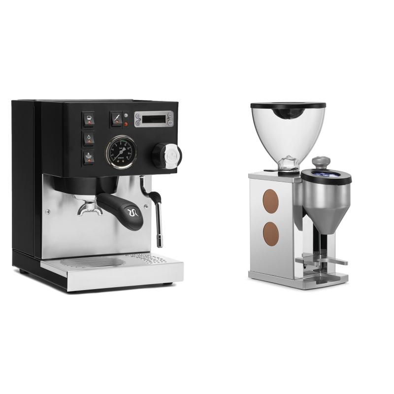 Rancilio Silvia PID Buna café edice, černá + Rocket Espresso FAUSTINO, copper