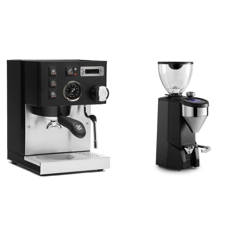 Rancilio Silvia PID Buna café edice, černá + Rocket Espresso SUPER FAUSTO, black