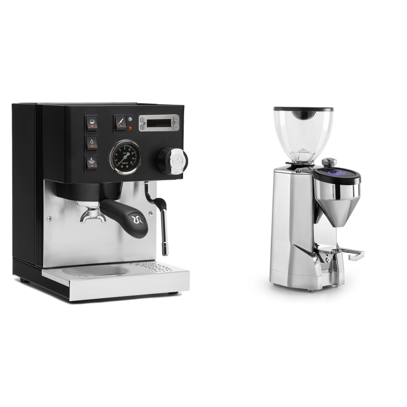 Rancilio Silvia PID Buna café edice, černá + Rocket Espresso SUPER FAUSTO, chrome