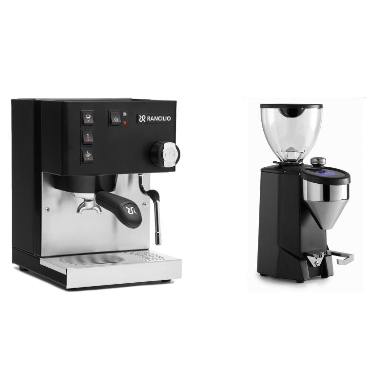 Rancilio Silvia E, černá + Rocket Espresso FAUSTO 2.1, black