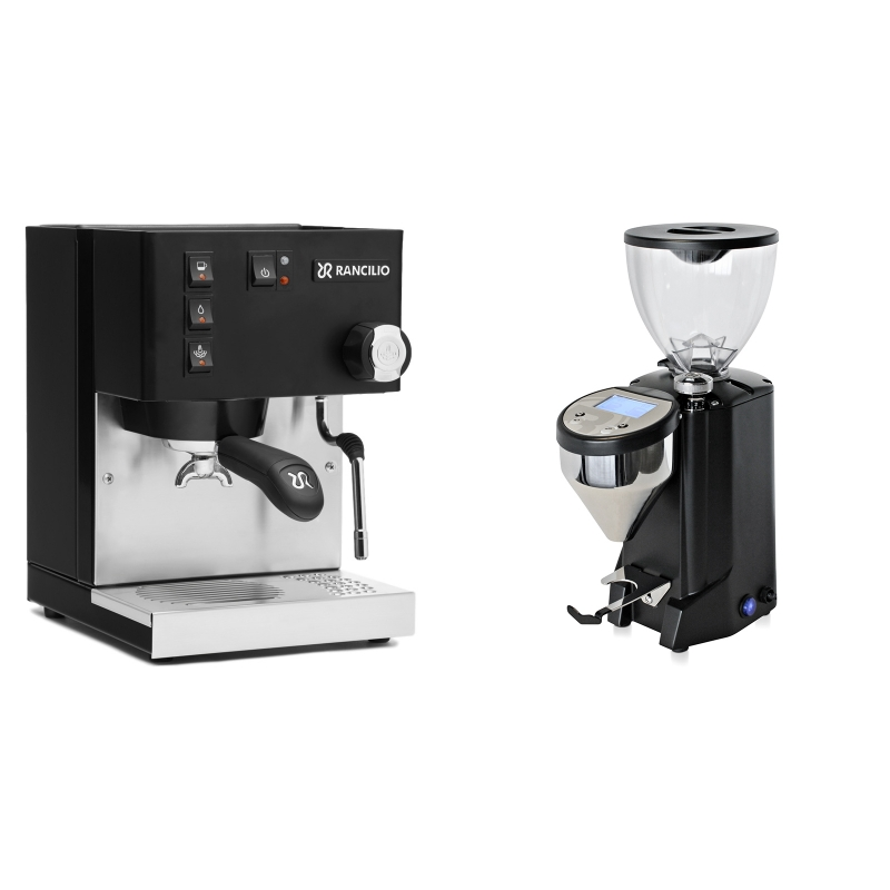 Rancilio Silvia E, černá + Rocket Espresso FAUSTO, black