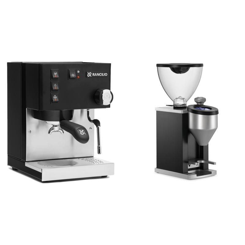 Rancilio Silvia E, černá + Rocket Espresso FAUSTINO, black