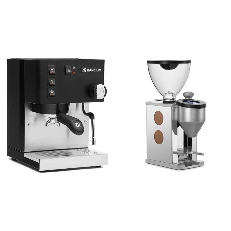 Rancilio Silvia E, černá + Rocket Espresso FAUSTINO, copper