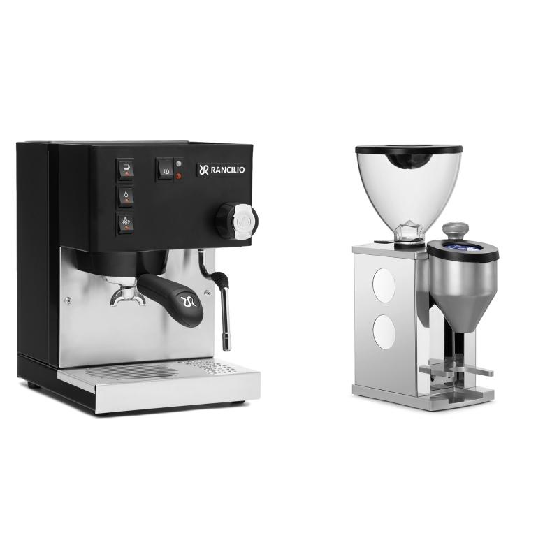 Rancilio Silvia E, černá + Rocket Espresso FAUSTINO, white