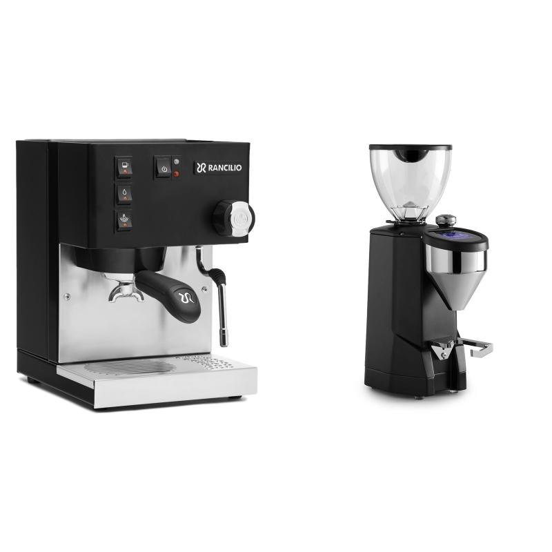 Rancilio Silvia E, černá + Rocket Espresso SUPER FAUSTO, black