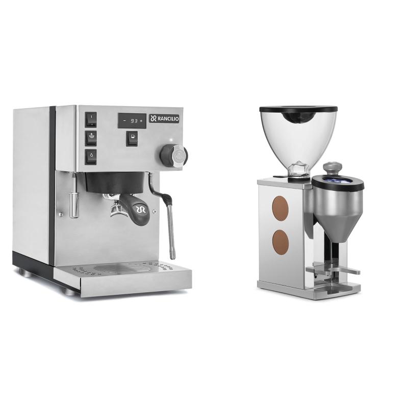 Rancilio Silvia PRO + Rocket Espresso FAUSTINO, copper