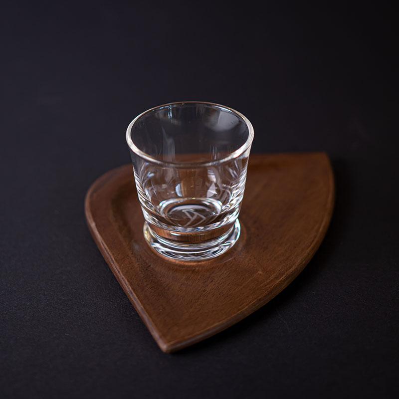 Česká sklenička na espresso s podšálkem