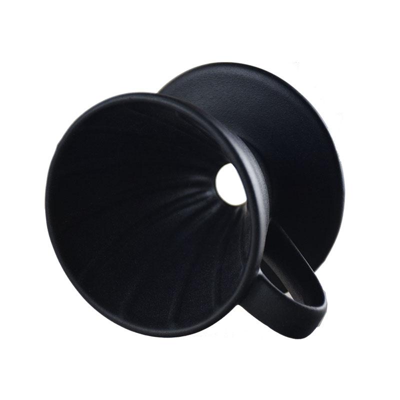Ecocoffee keramický dripper 02, 1-4 šálky, černý