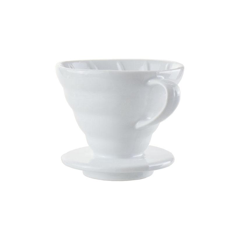 Ecocoffee keramický dripper 02, 1-4 šálky, bílý