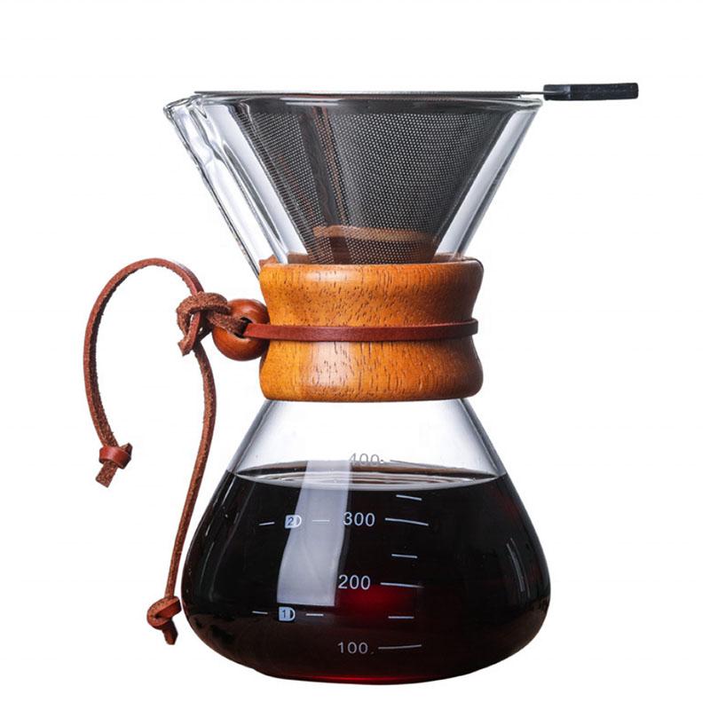 Ecocoffee chemex s nerezovým filtrem, 400 ml