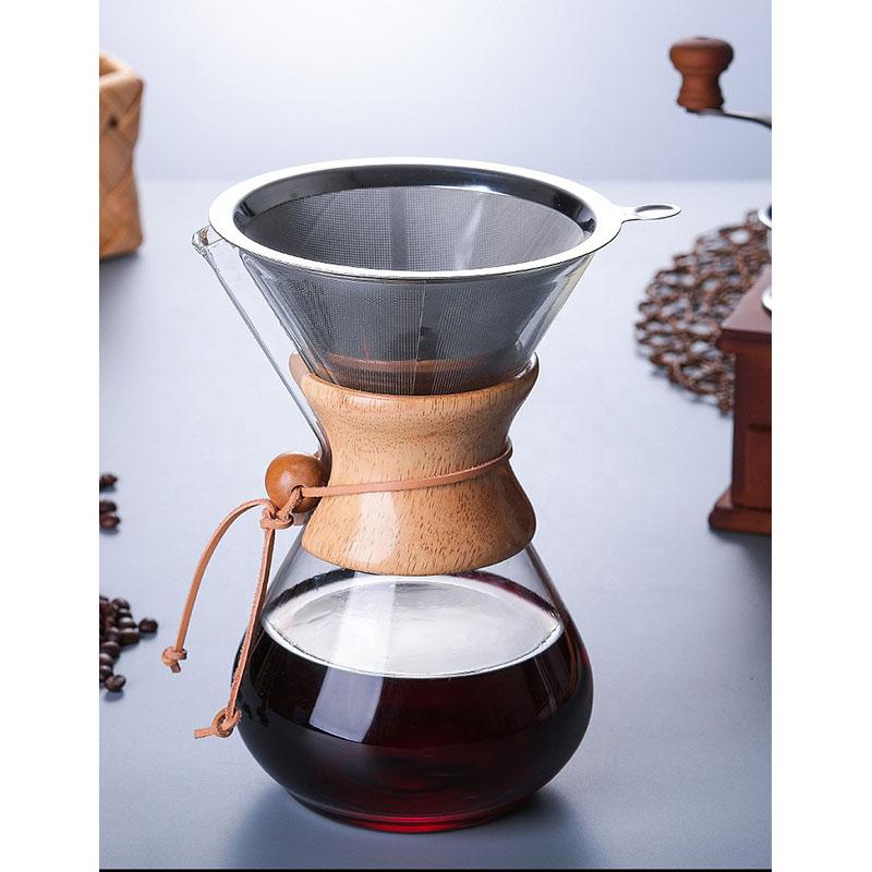 Ecocoffee chemex s nerezovým filtrem, 800 ml