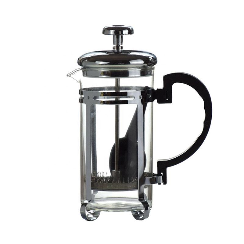 Ecocoffee french press, 0,6l, stříbrný