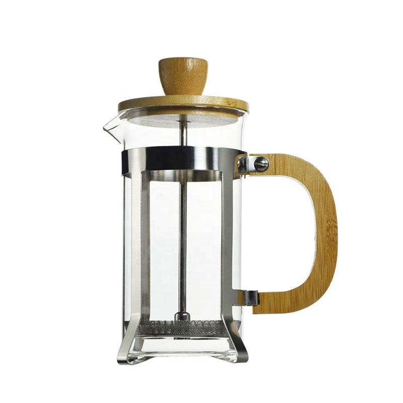 Ecocoffee french press, 0,6l, dřevěný