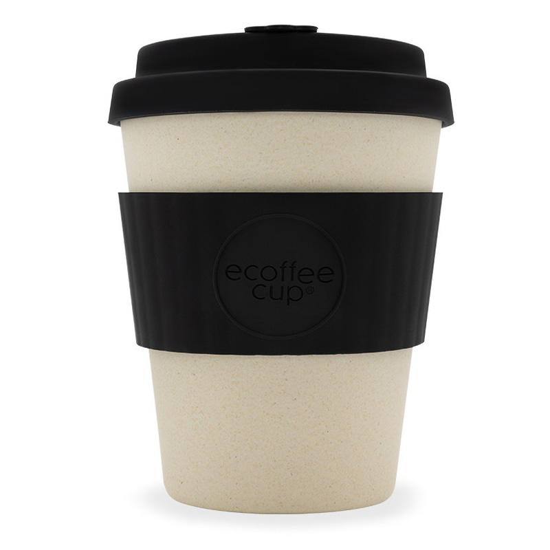Ecoffee bambusový hrnek, 350 ml, černá/přírodní