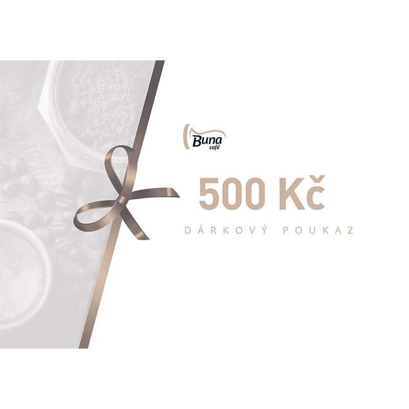 Buna café dárkový poukaz v hodnotě 500 Kč / 20 €