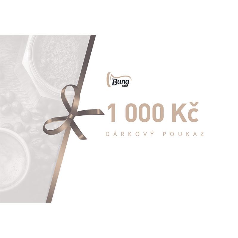 Buna café dárkový poukaz v hodnotě 1 000 Kč / 40 €