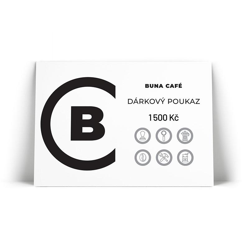 Buna café dárkový poukaz v hodnotě 1 500 Kč / 60 €