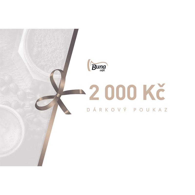 Buna café dárkový poukaz v hodnotě 2 000 Kč / 80 €