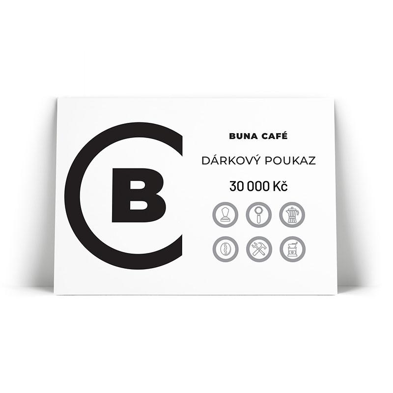 Buna café dárkový poukaz v hodnotě 30 000 Kč / 1 200 €